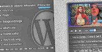 Mini music player with plugin wp playlist mini