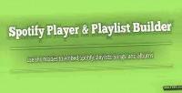 Player spotify playlist builder