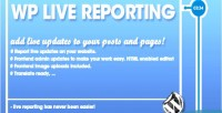 Pro wp live reporting