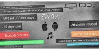 Responsive skan audio playlist with player