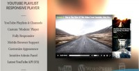 Responsive wordpress youtube player video playlist