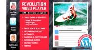 Revolution video player with bottom playlist wordpress plugin self vimeo youtube