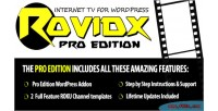 Rovidx pro edition internet tv for wordpress plugin templates app