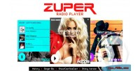 Shoutcast zuper & icecast player radio with plugin wordpress history