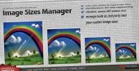 Sizes image manager