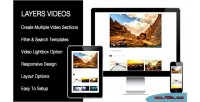 Sortable video extension builder layers for