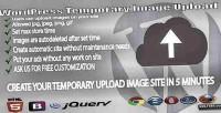 Temporary wp image upload