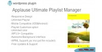 Ultimate applause playlist plugin wp manager