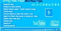 Video easy plugin wordpress player