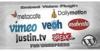 Video embed wordpress for plugin