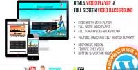 Video player fullscreen video plugin wp bgd.