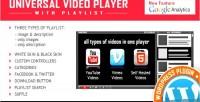 Video universal plugin wordpress player