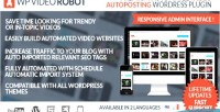Video wordpress robot plugin