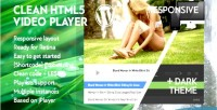 Wordpress clean html5 video playlist with player