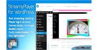 Wordpress streamyplayer plugin streaming video for