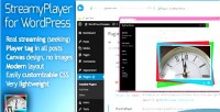 Wordpress streamyplayer plugin streaming video for