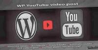 Wordpress youtube import video plugin