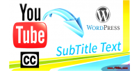 Youtube closed caption cc subtitle as plugin wordpress text youtube