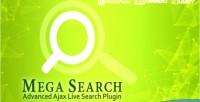 Mega search advanced live plugin search ajax