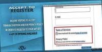 Accept wordpress to register