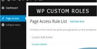 Custom wordpress role