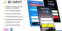 Input bs social login register & shortcode with popup