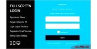 Login fullscreen wordpress plugin
