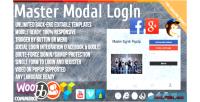 Modal master login popup