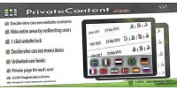Multilevel privatecontent content plugin