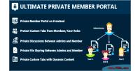 Private ultimate member portal