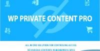 Private wp content pro