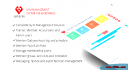 Wordpress wpgym system management gym