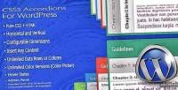 Accordions css3 for wordpress
