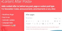 After content plugin wordpress posts