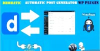 Automatic dmomatic post generator & auto dailymotion poster wordpre for plugin