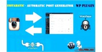 Automatic instamatic post generator & auto instagram poster wordpre for plugin