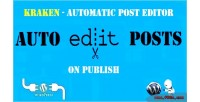 Automatic kraken post wordpress editor for plugin