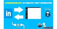 Automatic linkedinomatic post generator linkedin & plugin poster auto