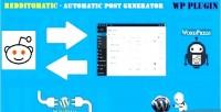 Automatic redditomatic post generator & auto reddit poster wordpres for plugin