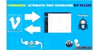 Automatic vimeomatic post generator & auto vimeo poster wordpress for plugin
