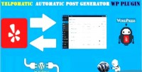 Automatic yelpomatic post wordpress generator for plugin