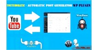 Automatic youtubomatic post generator & auto youtube poster wordpre for plugin