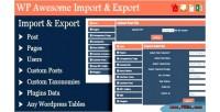 Awesome wordpress plugin export import