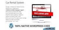 Car rental system native plugin wordpress