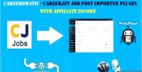 Careerjet careeromatic affiliate job generator post wordpress for plugin