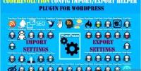 Configuration coderevolution import helper export wordpress for plugin
