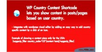 Country wp plugin shortcode content