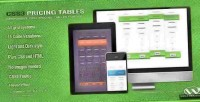 Css3 responsive pricing wordpress for tables