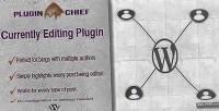 Currently pluginchief editing