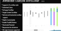 Custom awesome scrollbar